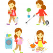 Stock Vector: Housework