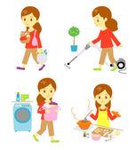 Housework — Stock Vector