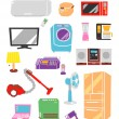Electric appliances - Stock Vector