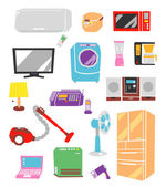 Electric appliances — Stock Vector