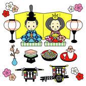 Hinamatsuri, the Dolls' Festival of Japan — Stock Vector