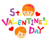 St. valentine's day — Stock Vector