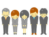 Ofis çalışanları, kibar yay — Stok Vektör