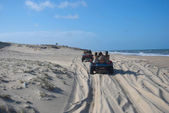 Buggy ride in Ceara dune — Stock Photo