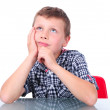 Small boy thinking — Stock Photo #36261961