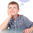 Stock Photo: Young boy thinking
