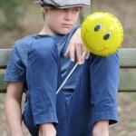 Boy and balloon — Stock Photo