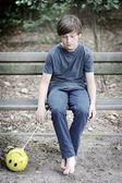男孩和气球 — 图库照片