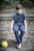 Ragazzo e palloncino — Foto Stock