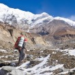 Hiking in Himalaya mountains — Stock Photo
