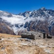 Stone stall at the summer pastures in the Himalayas — Stock Photo