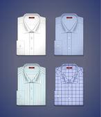 Vector set of a classic shirts — Stock Vector