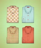 Vector set of a colored shirts — Stock Vector