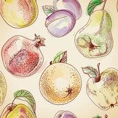 Vector Fruit pattern — Stock Vector