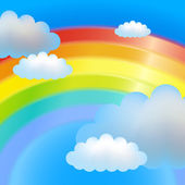 Clouds and rainbow — Stock Vector