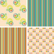 Vector set of seamless patterns — Stock Photo