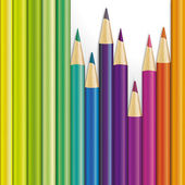 Vector background of colored pencils  — Stock Photo