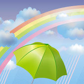 Vector background with rainbow — Stock Photo