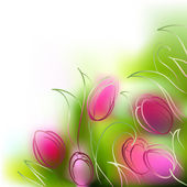 Vector background tulips — Stock Photo