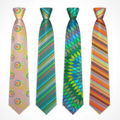 Vector set of colorful neckties — Stock Vector