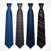 Vector set of neckties — Stock Vector