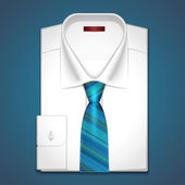 Vector illustration of a classic white shirt — Stock Vector