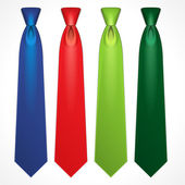 Set of colorful neckties — Stock Photo