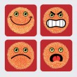 Emoticon icons — Stock Vector