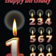 Birthday candle vectors — 图库矢量图片