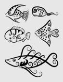Fish Decorative Symbols 1 (Vector) — Stock Vector