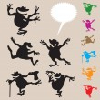 Royalty-Free Stock Vector Image: Frog Dancing Silhouettes 2