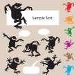 Royalty-Free Stock Vector Image: Frog Dancing Silhouettes 1