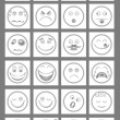 clean emoticon icons — Stock Vector