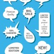 Speech Bubbles 1 Vector — Stock Vector