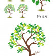 Money Tree Illustration — Stock Vector