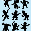 Baby Dancing Silhouettes — Stock Vector #28178363