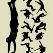 Parkour Silhouettes — Stock Vector
