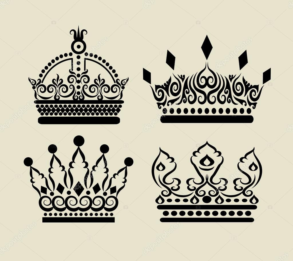 Crown curl decorations stock vector cundrawan703 28254245 for Decoration drawing