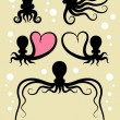 Octopus Silhouettes Symbol — Stock Vector #29818105