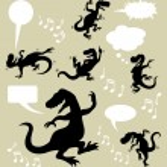 Dinosaur Dancing Silhouettes — Stock Vector #29818109