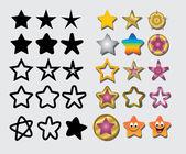 Star Symbols — Stock Vector