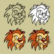 Lion Head Character — Stock Vector