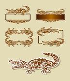 Crocodile pattern ornament decoration — Stock Vector