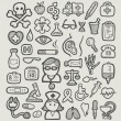 Medical Icons Sketch — Stock Vector