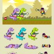 ������, ������: Dino attack game asset