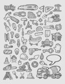 Construction Icons Sketch — Stock Vector