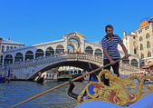 Gondolier, Venice — Stock Photo