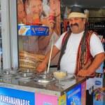 Icecream vendor, Bodrum, Turkey — Stock Photo