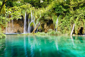 Waterfall in deep forest, Croatia — Stock Photo