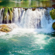 Waterfalls in national park. Krka National Park, Croatia — Stock Photo